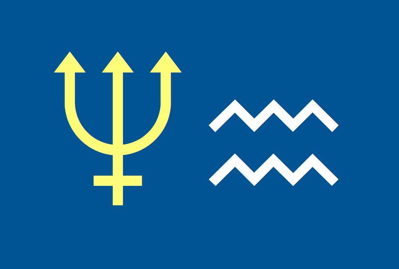 Symbol Aquarius Neptun
